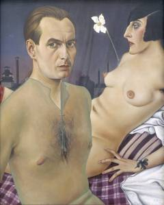 I found this piece to be one of the most provocative in the Museum. It is A self portrait by Christian Schaad. Click the link to learn more about this piece.